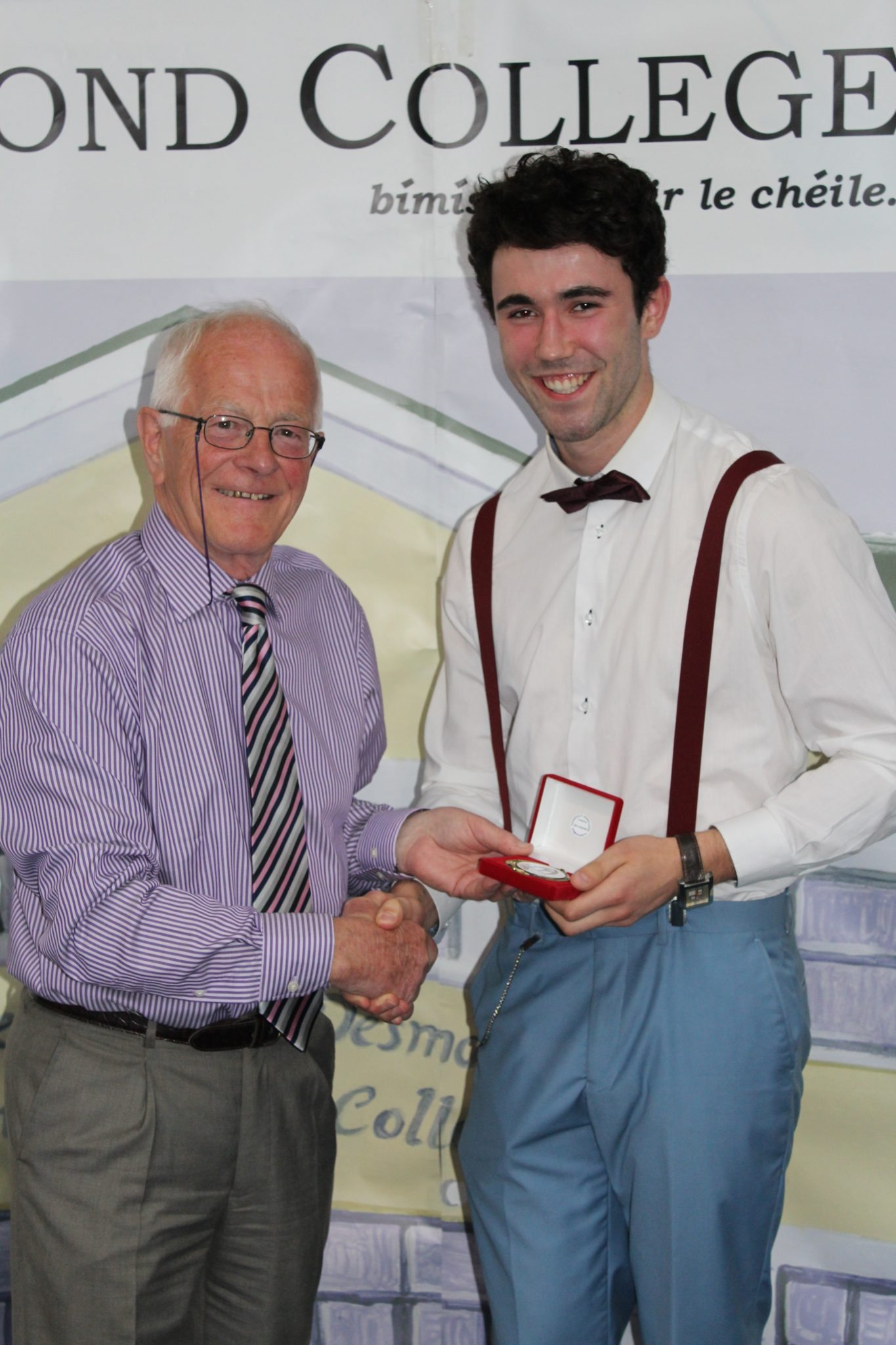 Desmond College Leaving Certificate Graduation Awards 2015: Sports Awards: Cormac Long with Mike Nash