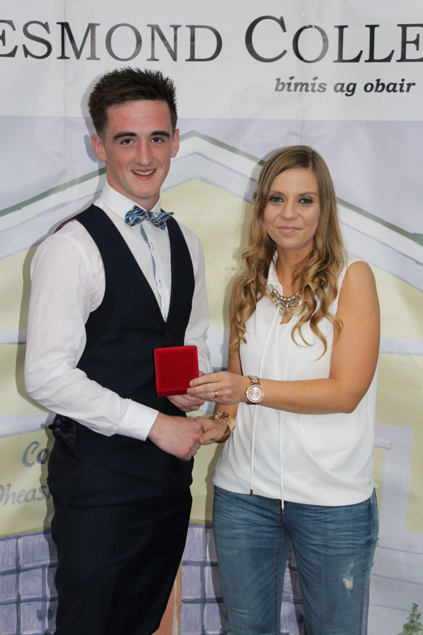 Desmond College Leaving Certificate Graduation Awards 2015: Sports Awards: Steven Brosnan with Ms Corkery