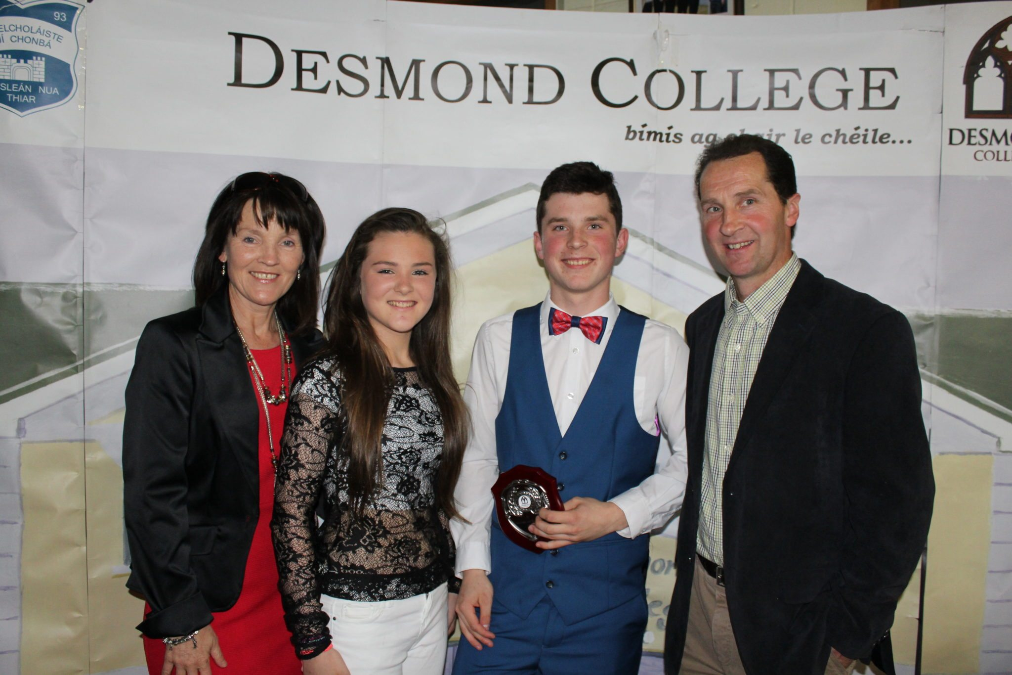 Desmond College TY Graduation 2015 Diarmuid Curtin with his family at the TY Graduation