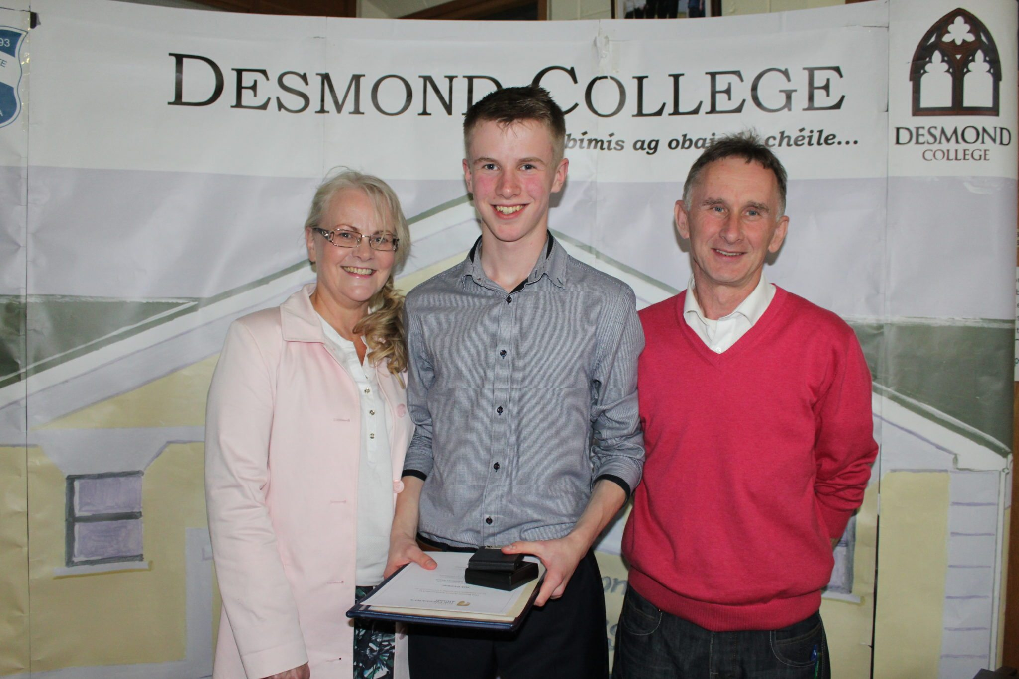 Desmond College TY Graduation 2015: Jack O'Connor with his Mam and Dad at the TY Graduation