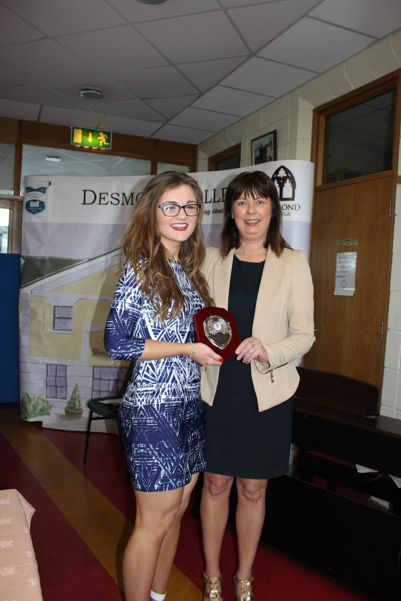 Desmond College TY Graduation 2015: Community Leader Award: Claire Mortell and Ms Cregan