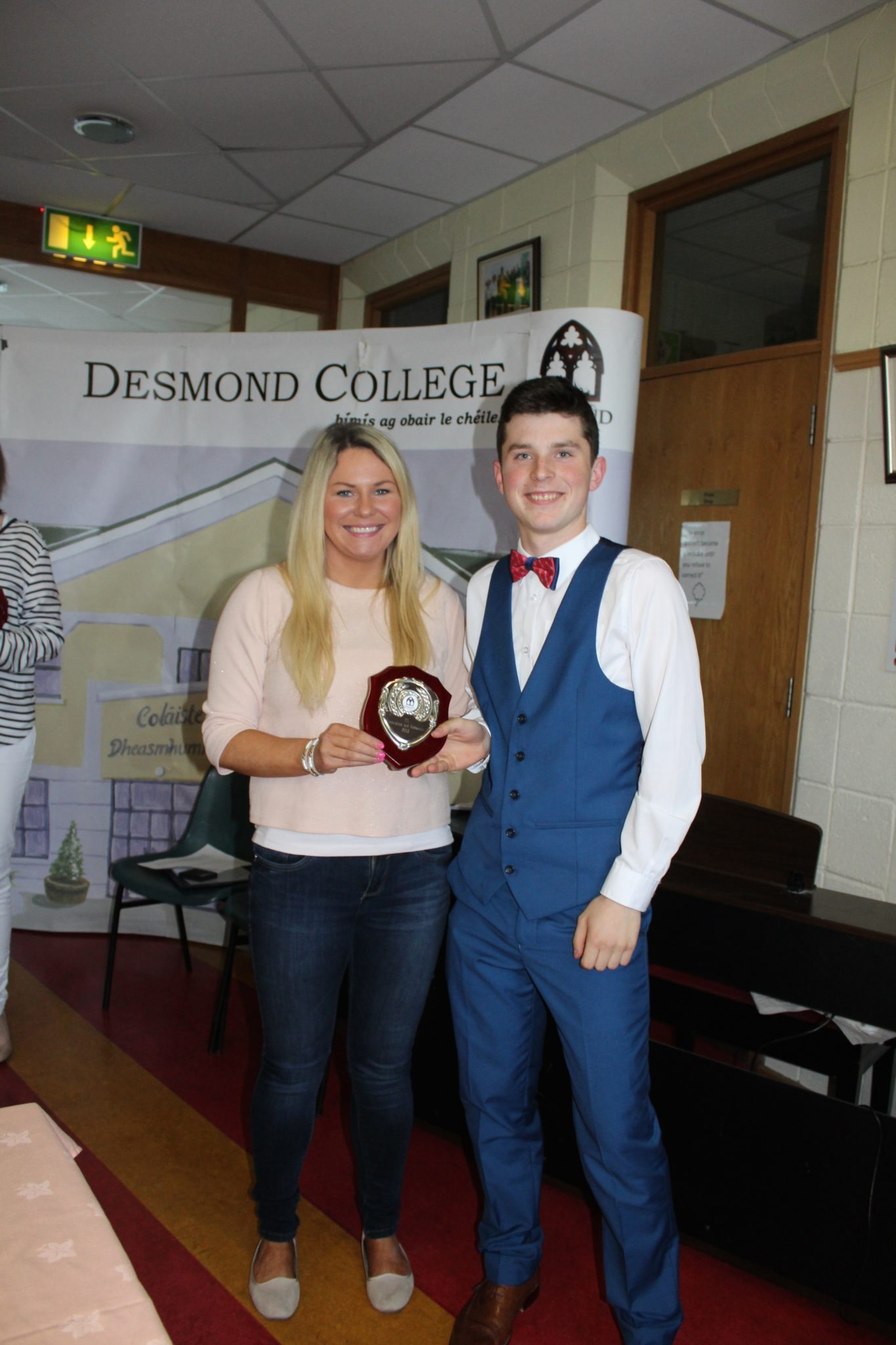 Desmond College TY Graduation 2015: Innovation and Endeavours Awards: Diarmuid Curtin with Ms Broderick
