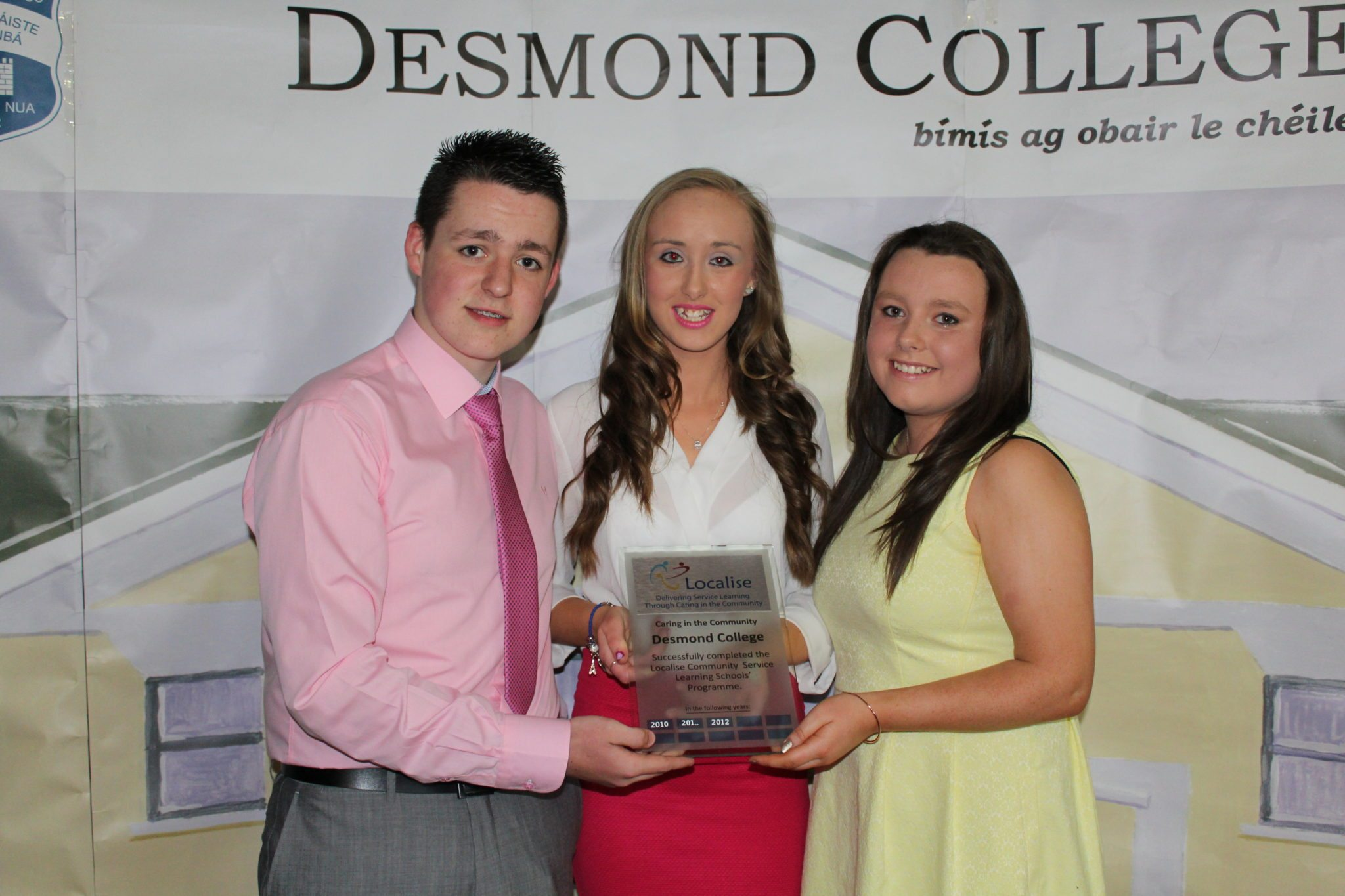Desmond College TY Graduation 2015: Localize Project Award: Johnny Hunt, Shauna Hallinan and Patreeze Nugent