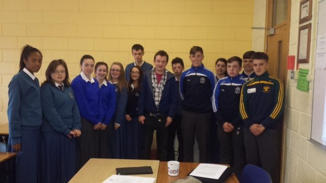 Transition Year Students pictured with James Lawlor from Narrative 4 Ireland