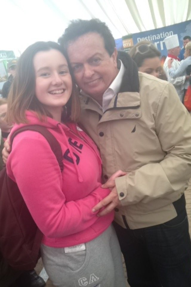 Ploughing 2015: Marty Morrissey with TY Student from Desmond College
