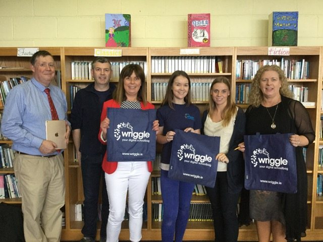 The iPad Initiative Team in Desmond College: Donal Enright, Dave O Brien (Wriggle), Deputy Principal Liz Cregan, Christine (Wriggle), Marie Corkery, Principal Vourneen Gavin