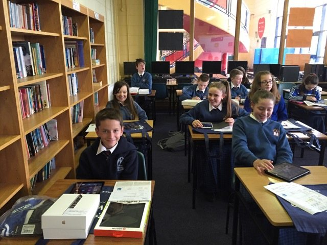 Some of the First Year students enjoying the iPad training from Wriggle