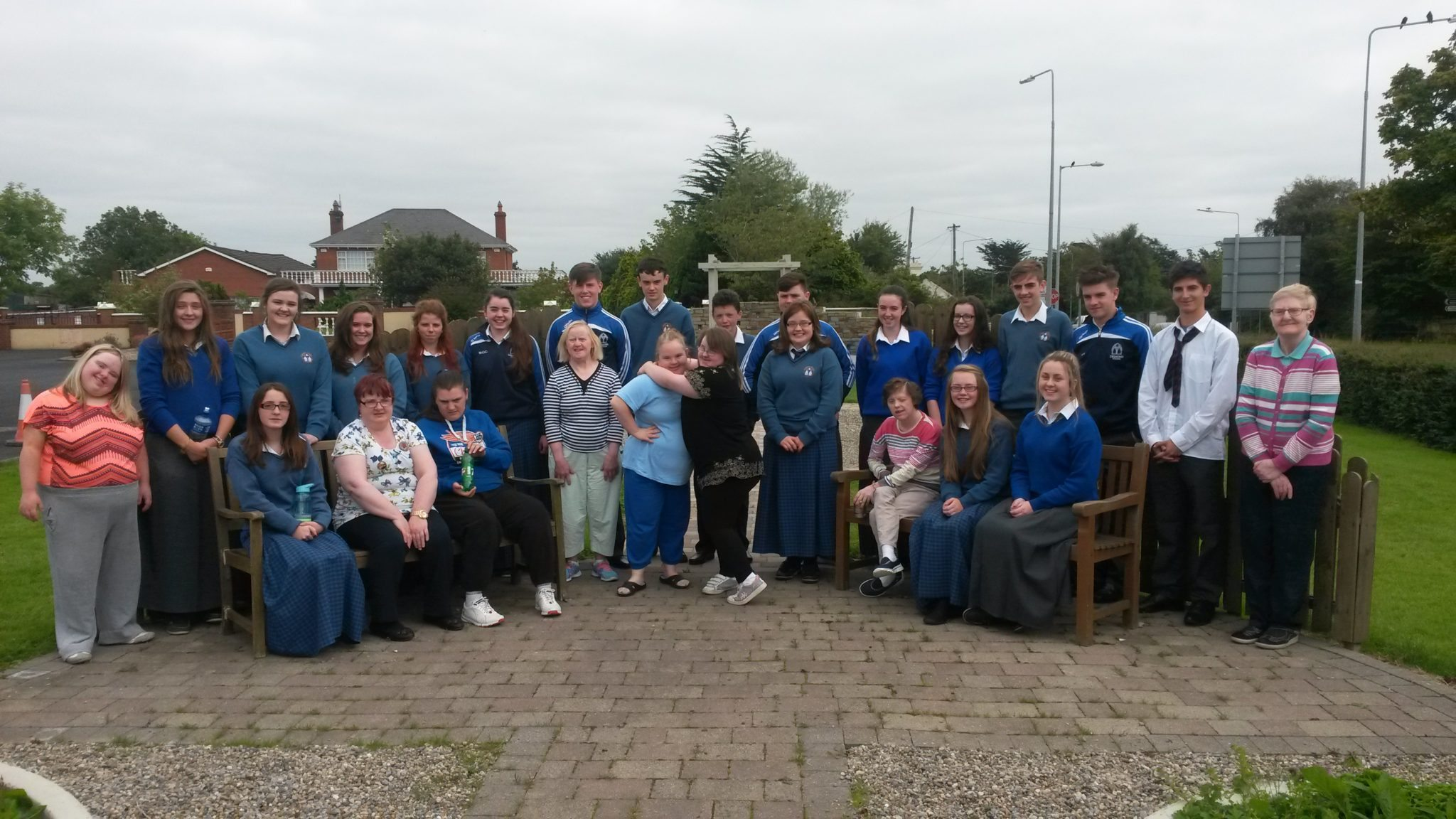 Transition Year Students with the Service Users at the Brothers of Charity