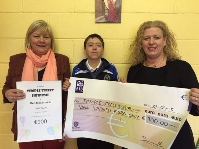 2015 Oct: Mari Woods, Ben McCormick and Vourneen Gavin Barry : Funds Raised for the Temple Street Children's Hospital