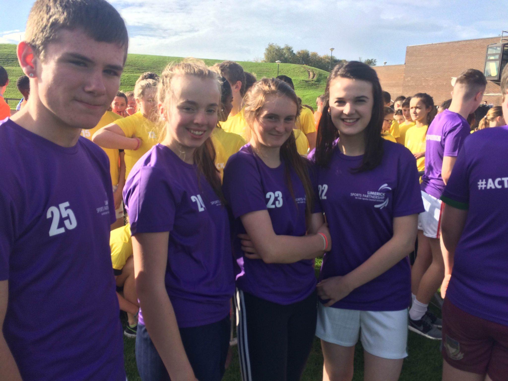 John Paul Gahan, Chloe Walsh, Iris Kennelly and Clodagh McNamee at the World Marathon Challenge in UL