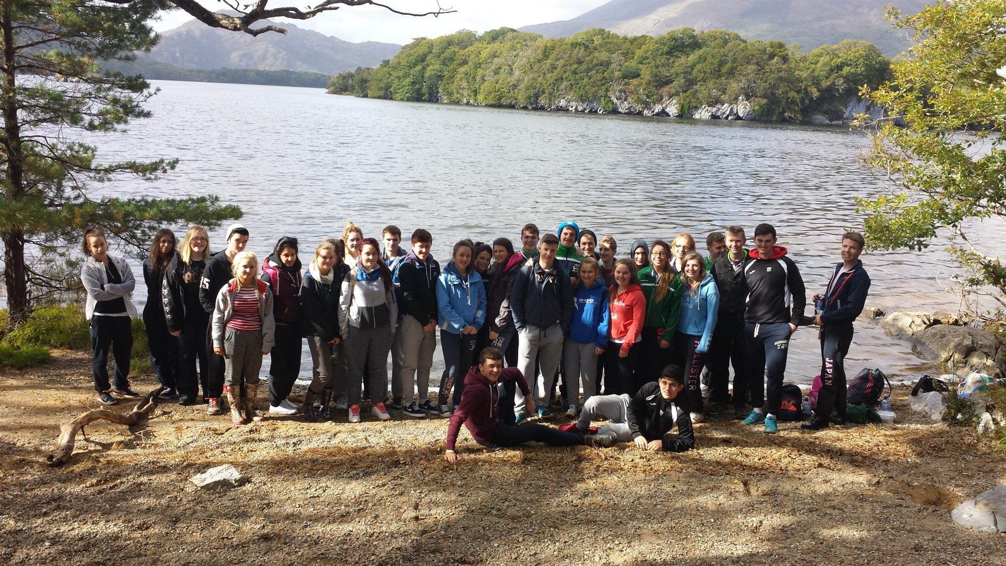 October 2015: Desmond College Leaving Certificate Biology Students in the Beautiful Killarney National Park