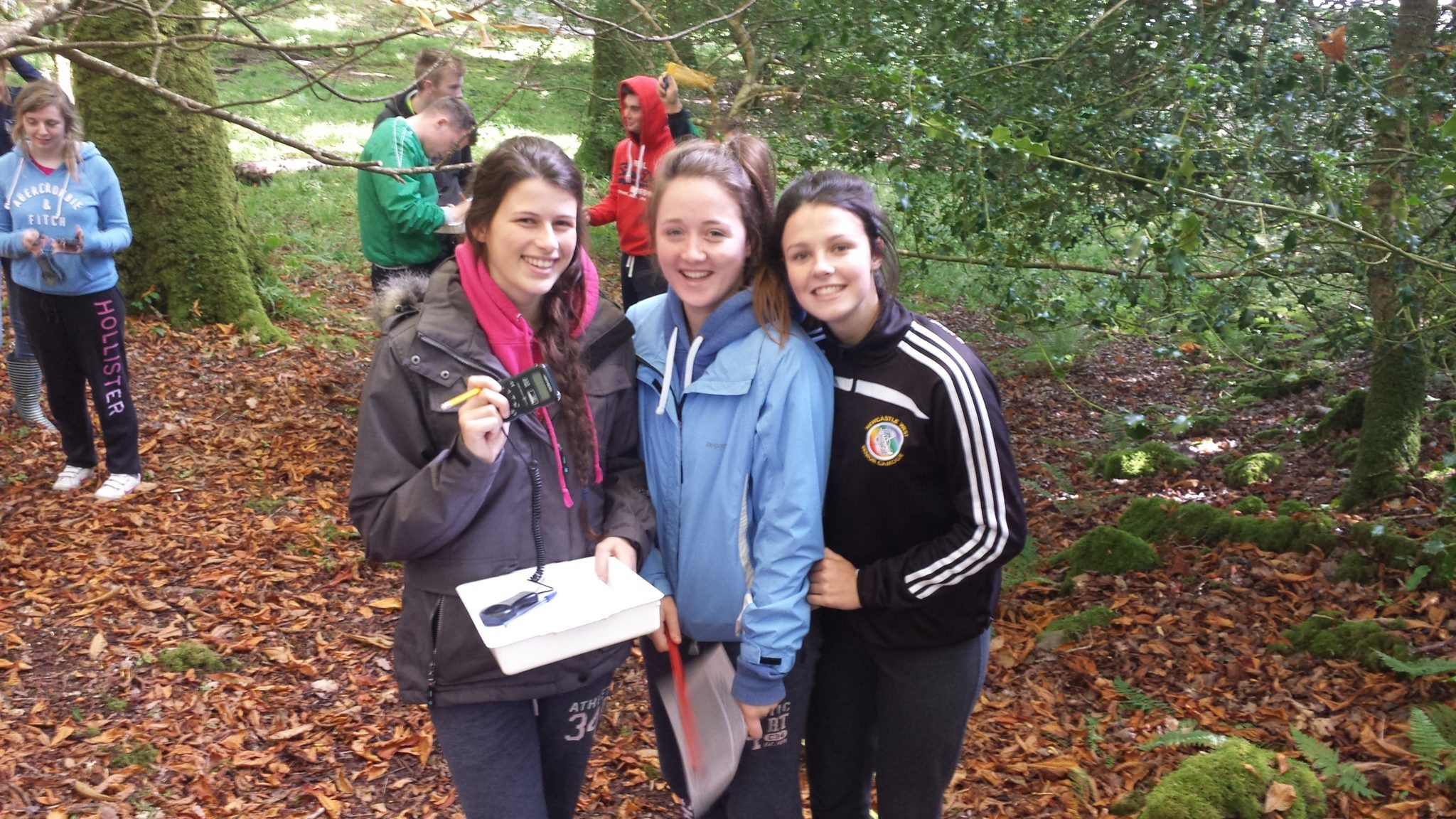 October 2015: Madeline O'Doherty, Rachel Dore, and Leah Kelly explore the flora and fauna at Killarney National Park.