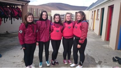 2015 October: Desmond College TY Students on their trip to Achill Island
