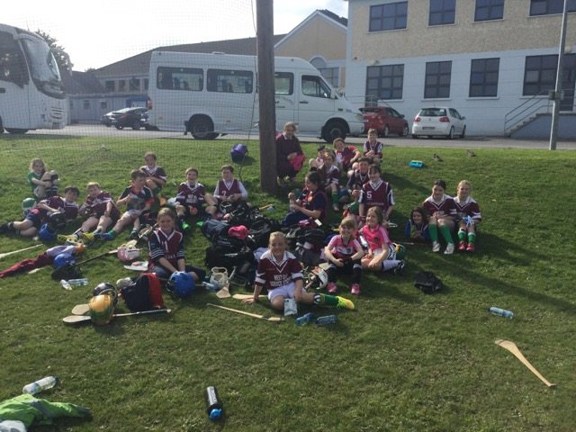 Students from Killoughteen National School take a well deserved break at Desmond College Primary School Blitz