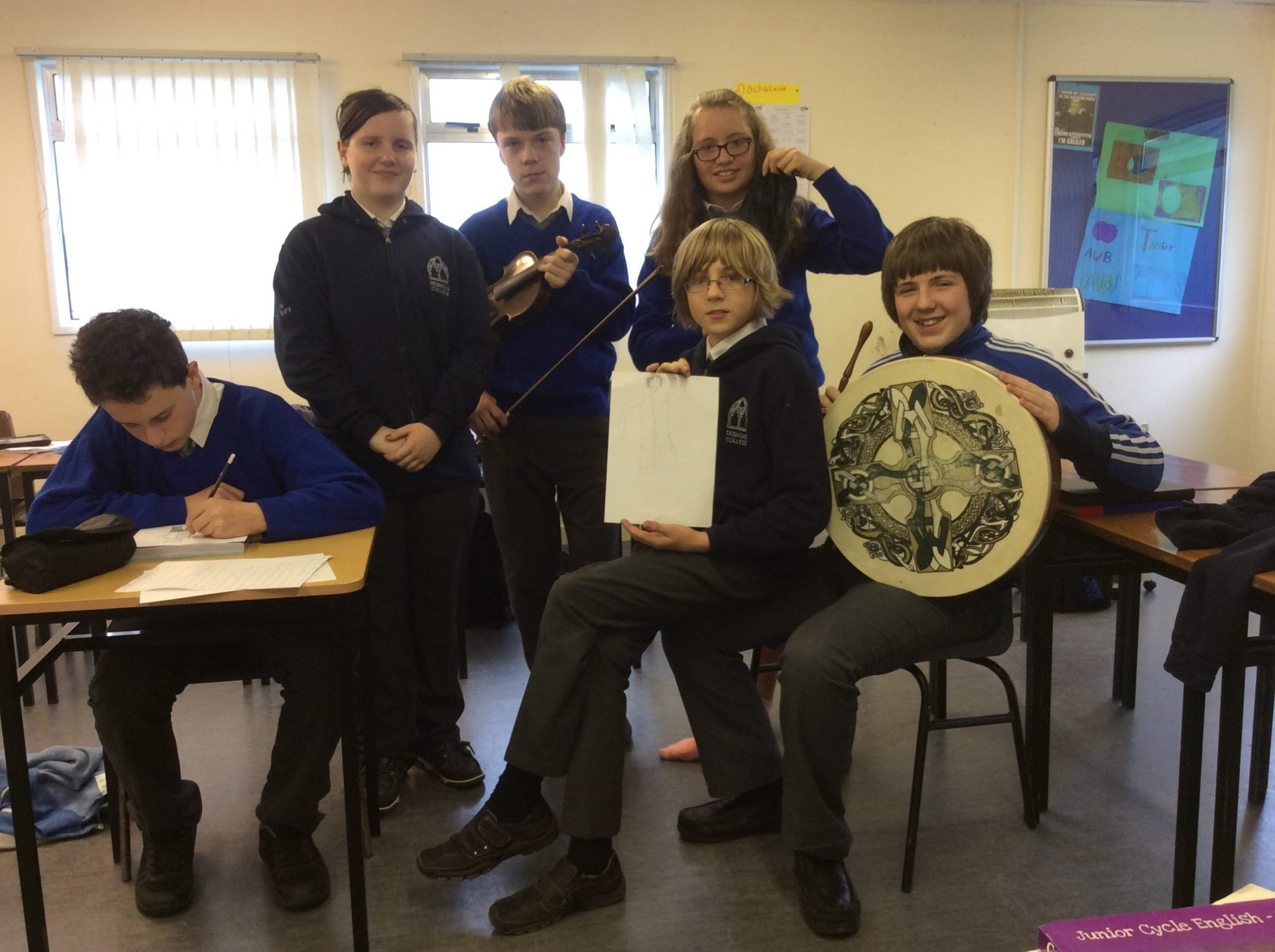 2015 November 5th:  Some of the Gaelcholáiste students at their creative day.
