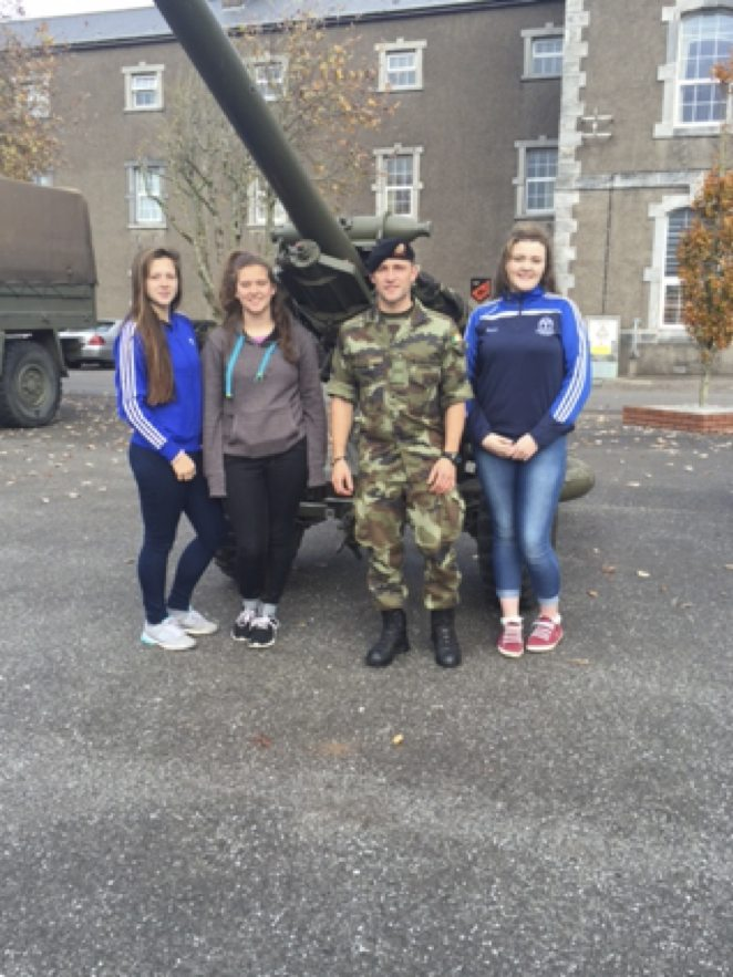 November 2015: Desmond College TY Students go on Work Experience to the Army