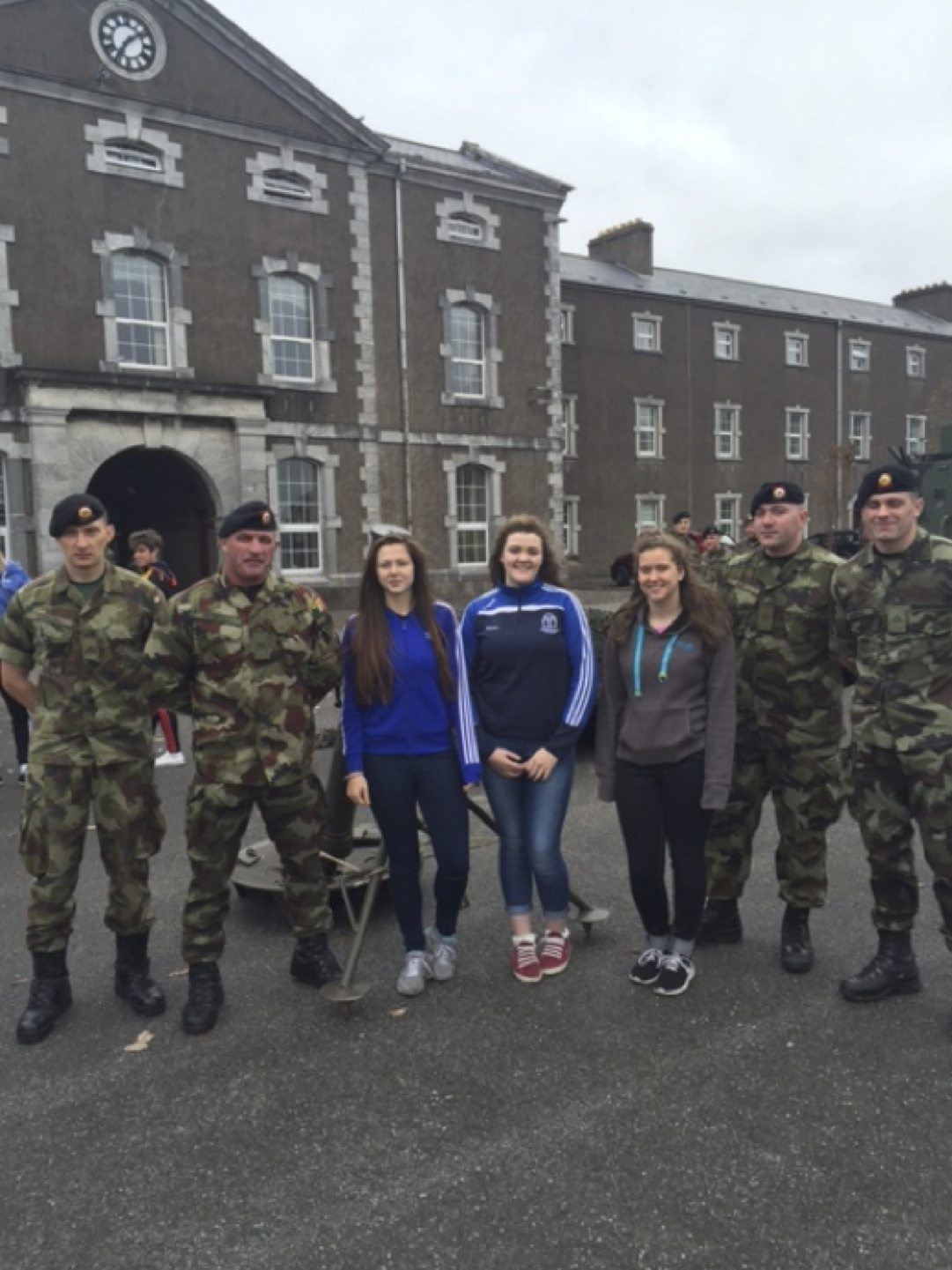 November 2015: Desmond College Transition Year Students go on Army Work Experience