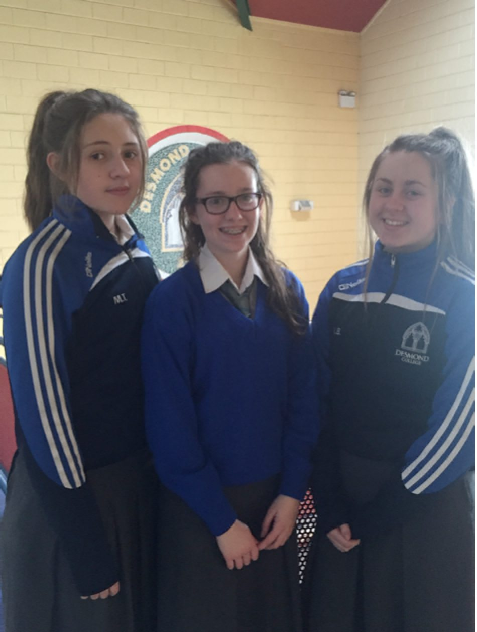 2016 BT Young Scientist Profile: Leah Barry (Raheenagh), Aine Upton (Old Mill) & Muireann Tobin (Newcastle West)