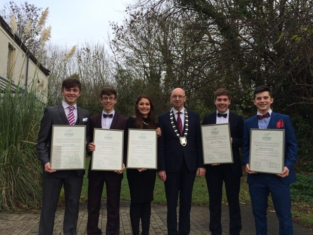 Desmond College Enterprise Students at Civic Reception in Local County Council