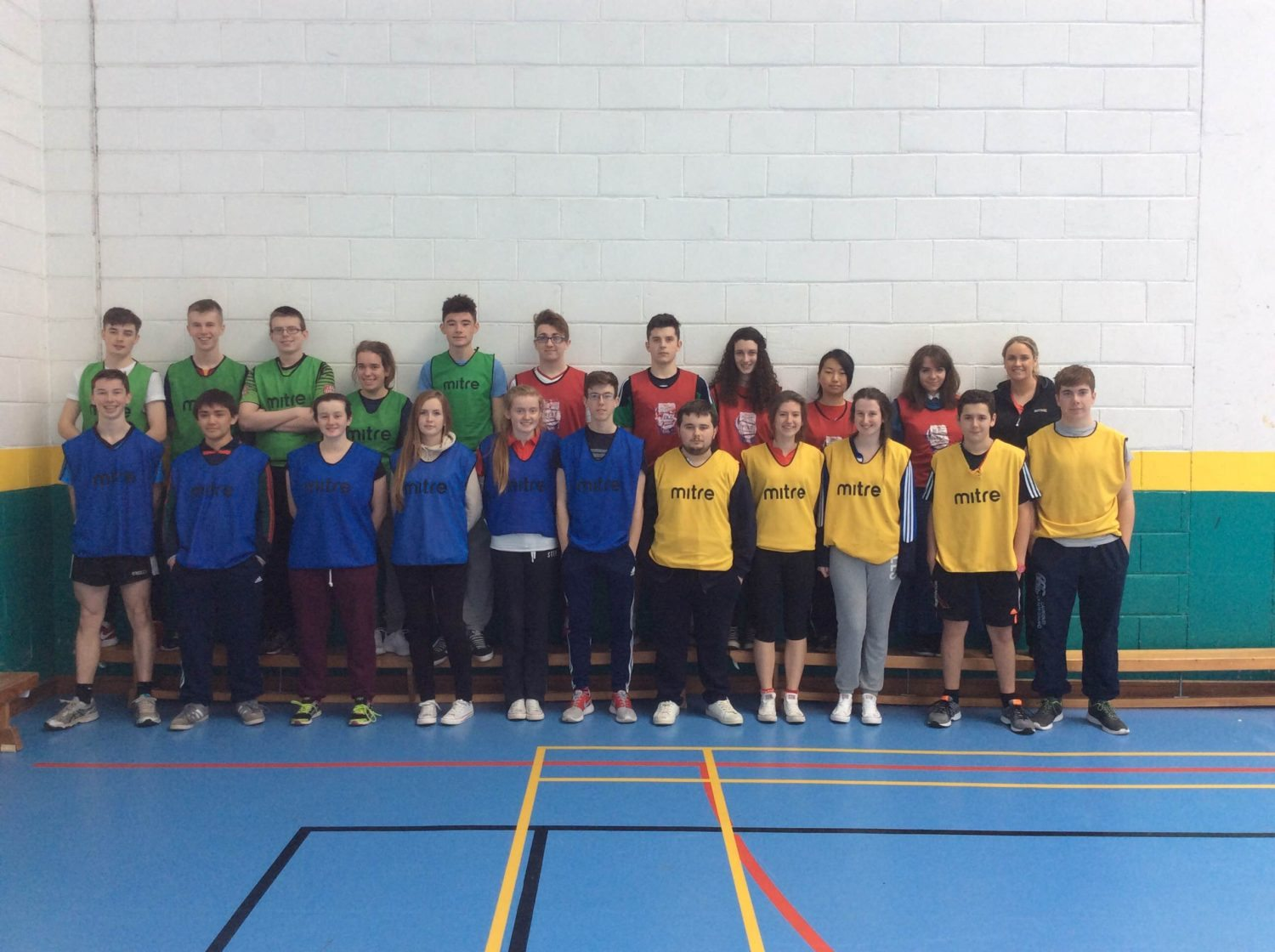 November 2015: Picture of Desmond College Senior Cycle Students participating in a Physical Education Research Project with NCCA and University of Limerick.