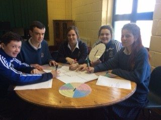 December 2015: Transition Year Students from Desmond college help with Literacy Week which included a Spelling Bee