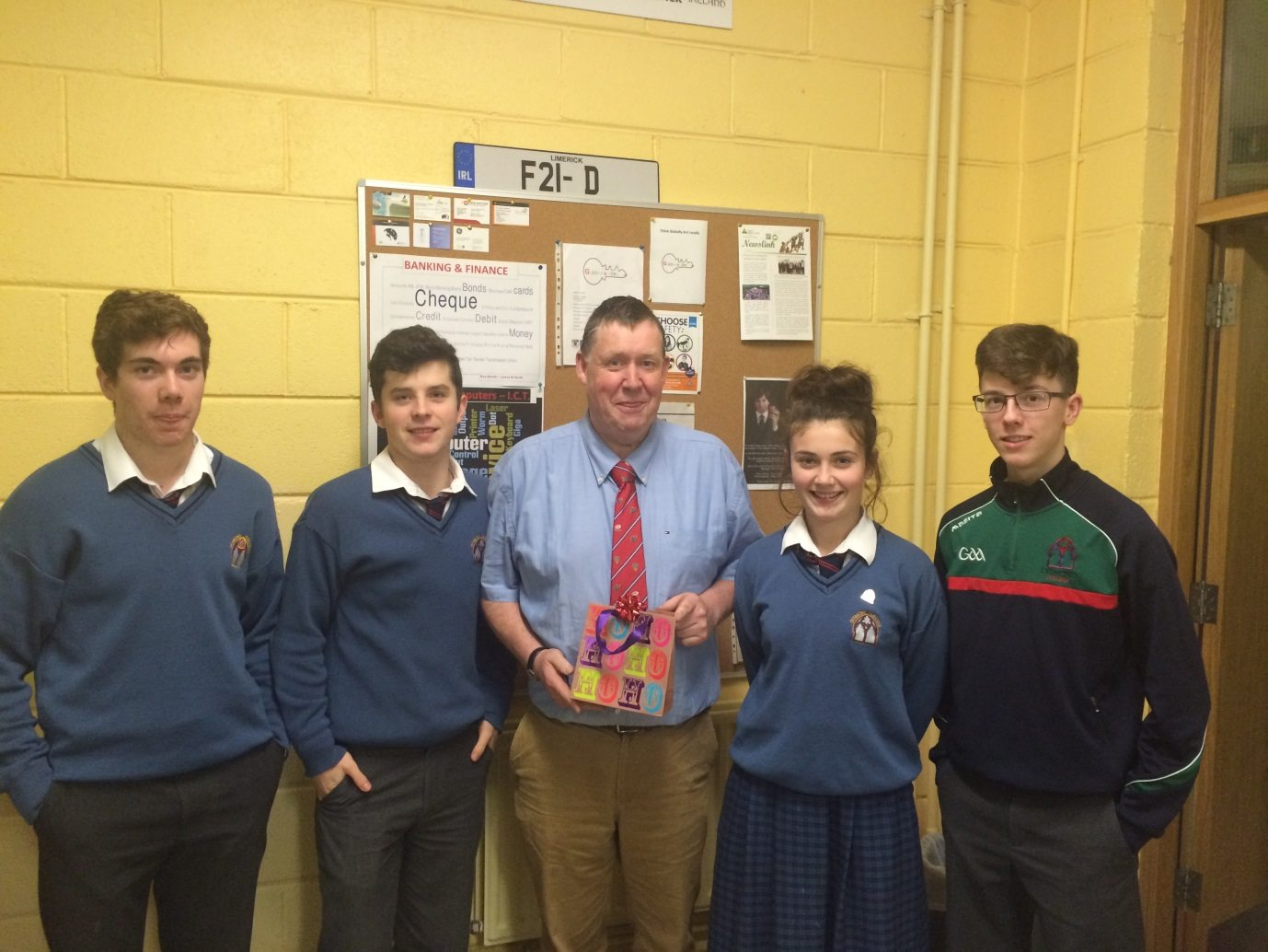 December 2015: Guide a Key make a presentation to their mentor, Donal Enright