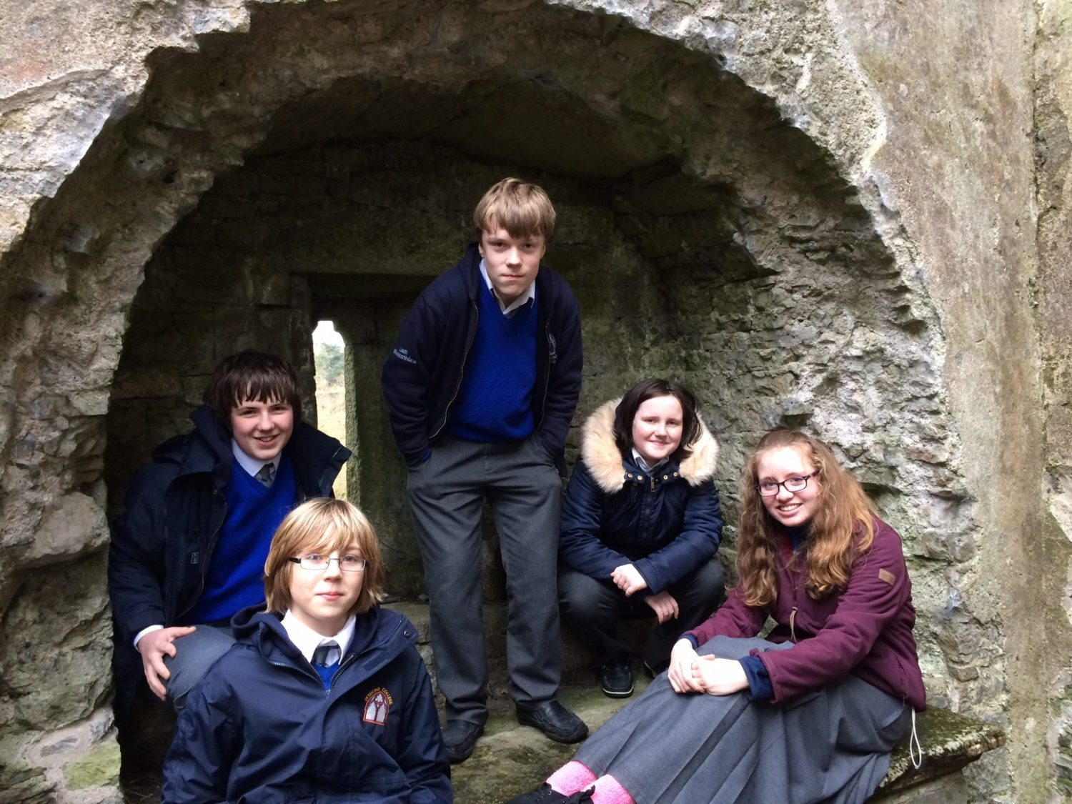 Nov 2015: Desmond College and Gael Cholaiste History Classes Travel to Buttevant to Archaeological Dig