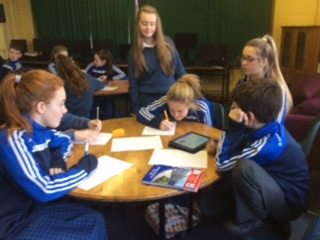 "December 2015: Literacy Week ""said is dead"" challenge in Desmond College"
