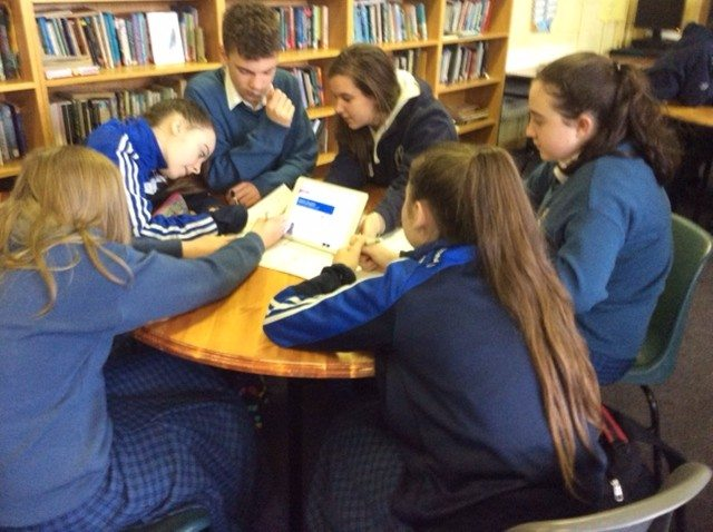 December 2015: Literacy Week Desmond College : Transition year students working with their first year buddies