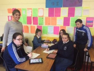 December 2015 : Literacy Week in Desmond college; Word of the Day in Conjunction with All Subject Departments
