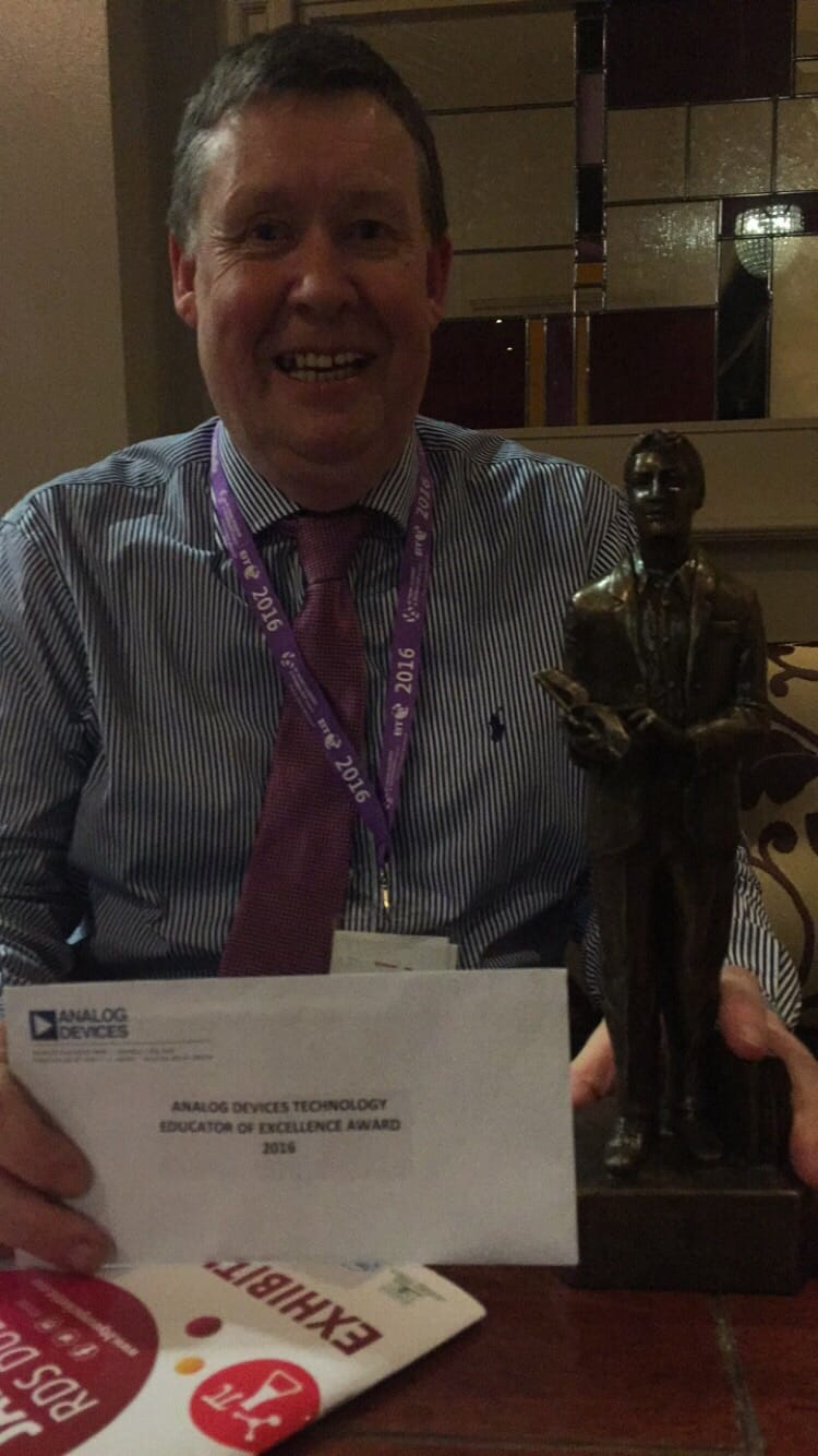 Jan 2016: Mr. Donal Enright received The Analogue Educator of Excellence at the BT Young Scientist