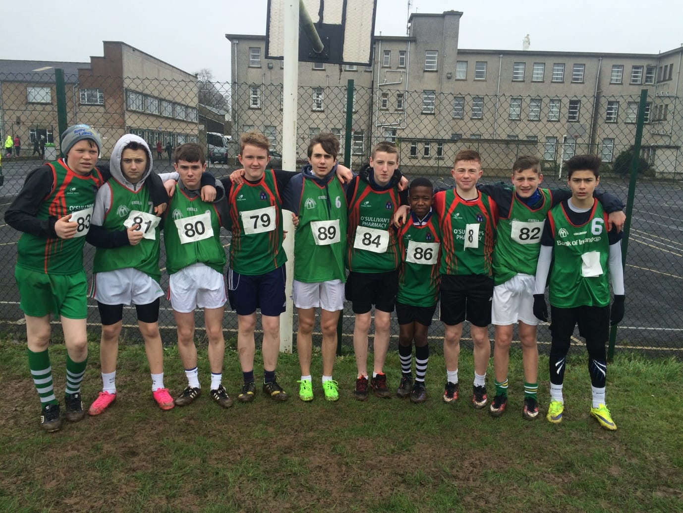 Desmond College Boys U15 Team at the North Munster Cross Country Championships in Pallaskenry recently