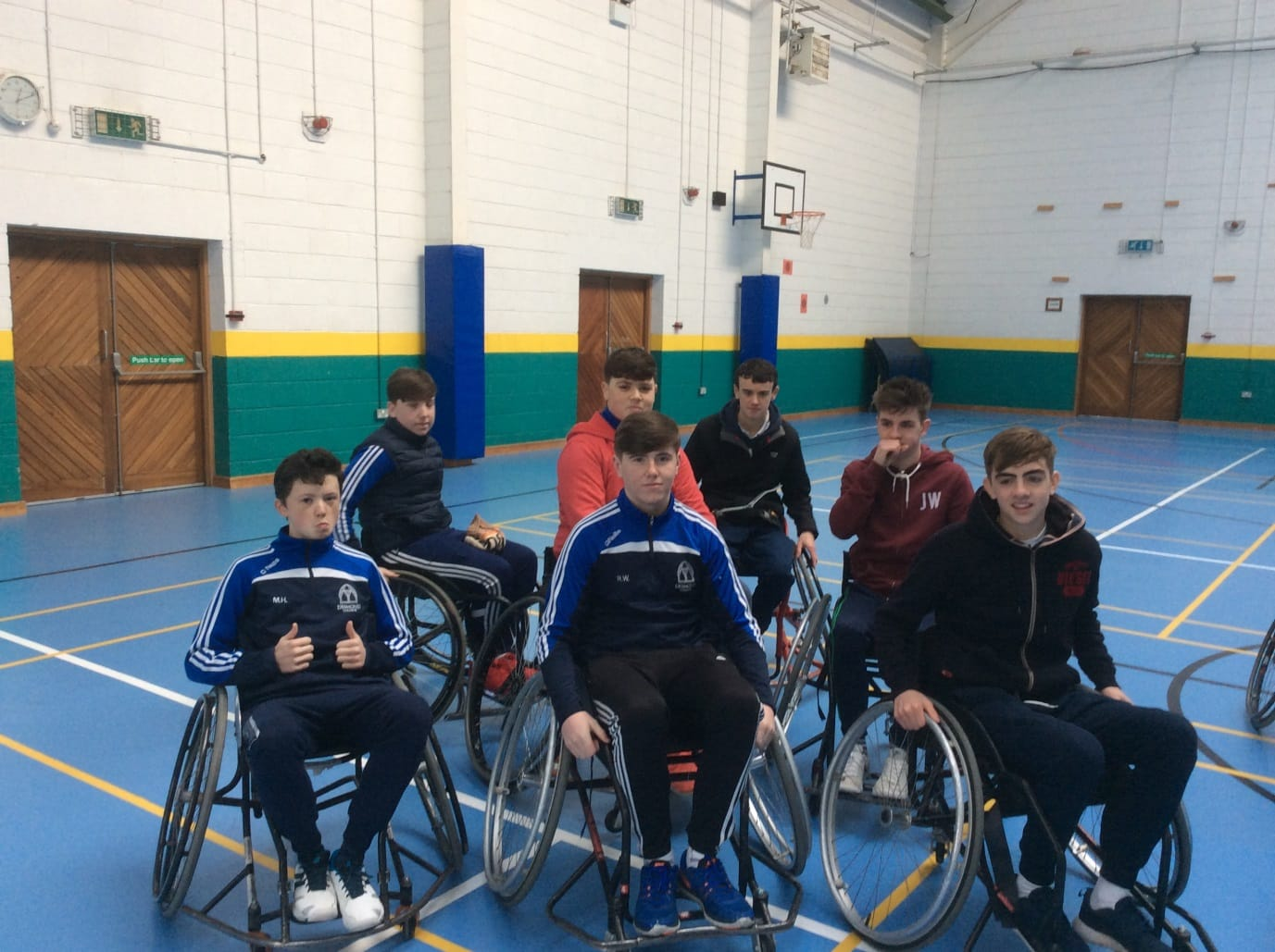 Feb 2016: Wheelchair Basketball Workshop given by the Irish Wheelchair Association for Desmond College Transition Year Students