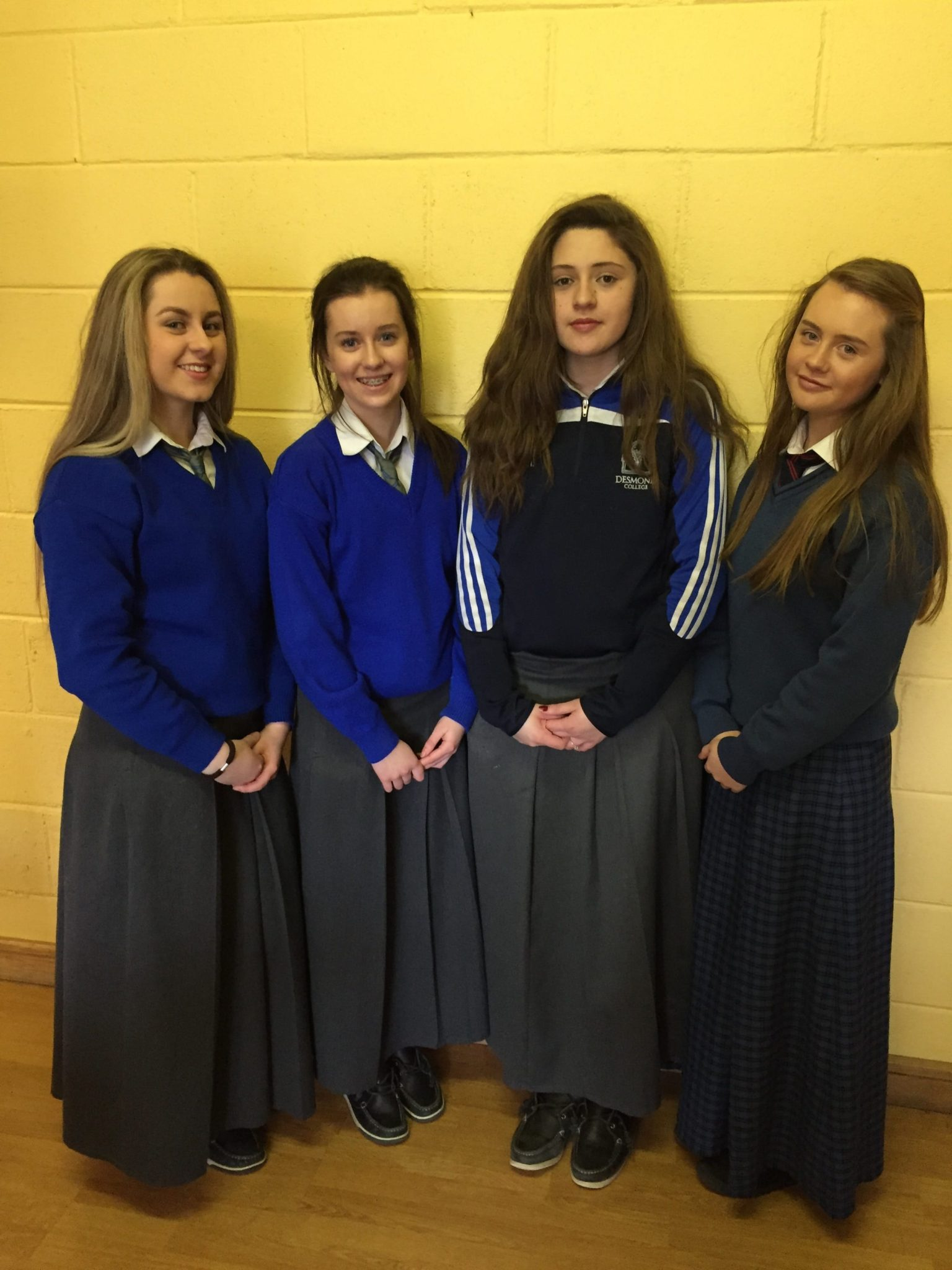 2016 Feb: TY students Leah Barry, Aine Upton, Muireann Tobin and Caoimhe Danaher raised funds for Hope Foundation, and will work with their projects in Kolkatta, India this Easter