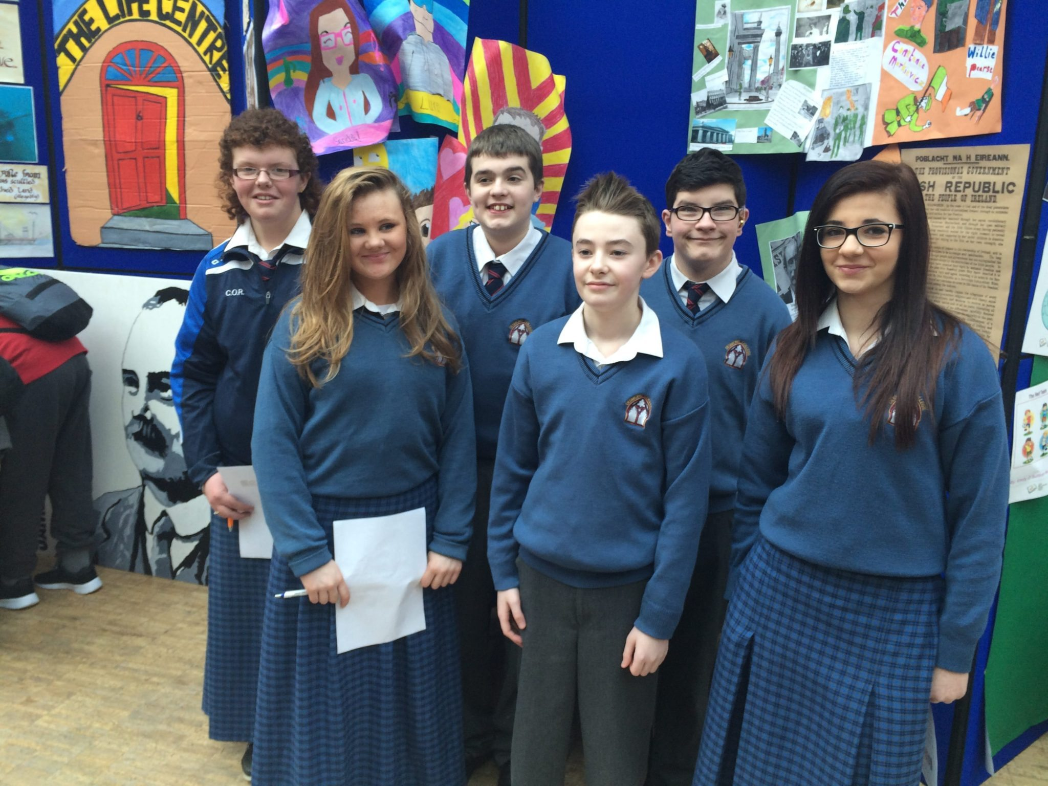 2016 Feb: Rang Fintan, Desmond College Junior Certificate Schools Programme students, at the Cork Make a Book Exhibition