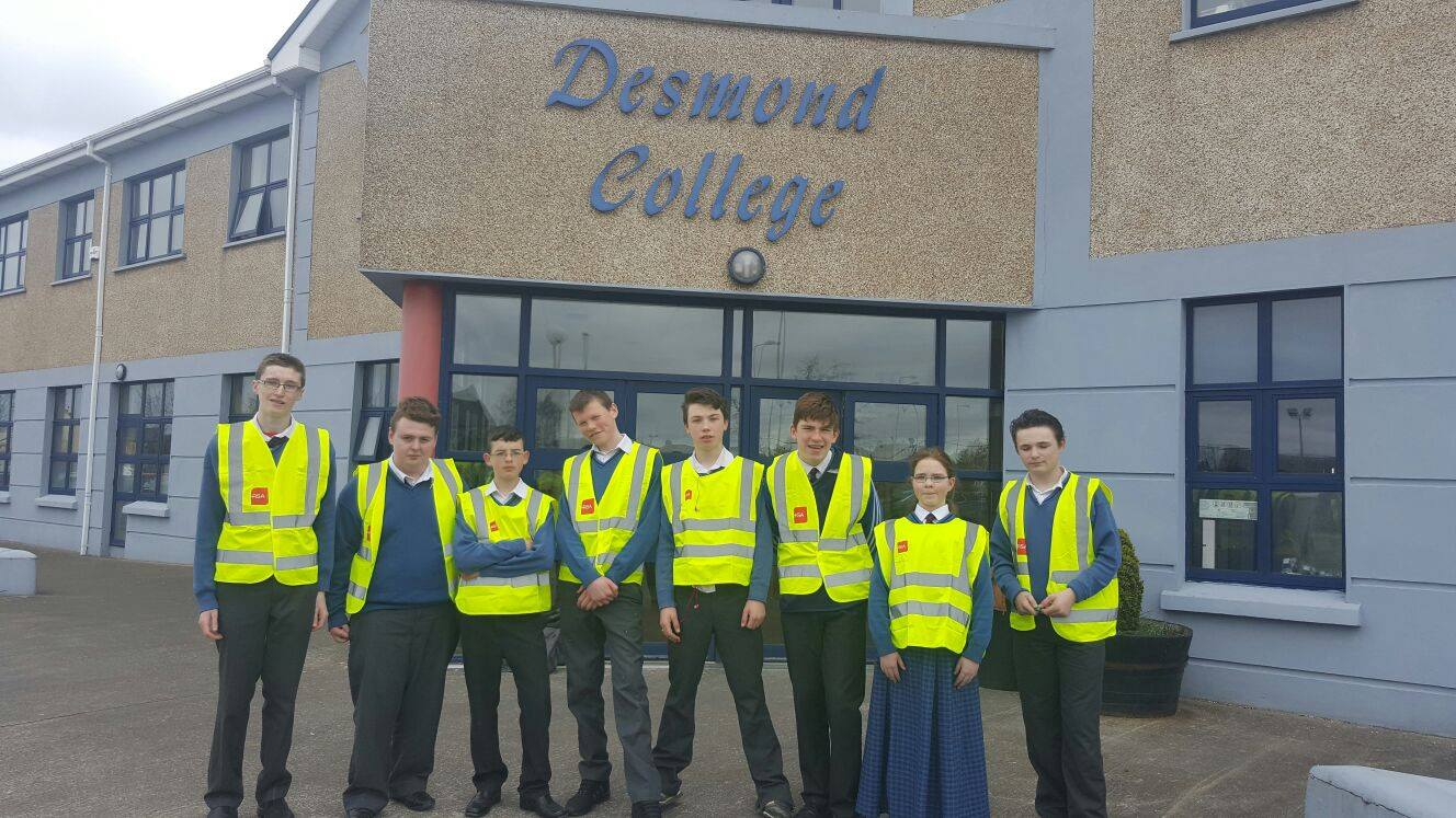 2016 April 19th: Desmond College Active Schools Week: walk a mile with a smile!