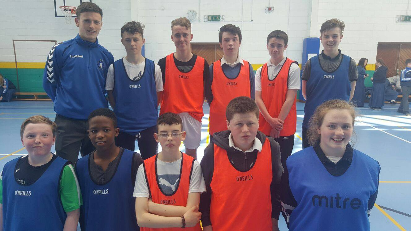 19th April 2016: Active Schools Week 2016: Desmond College's Soccer Finalists with referee Killian Brouder: #activetuesday