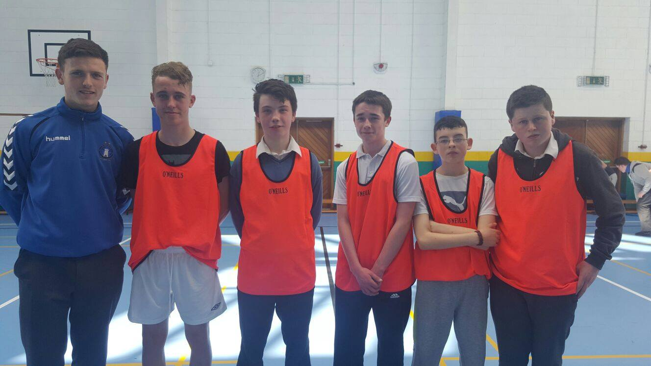 19th April 2016: Active Schools Week 2016: Desmond College's Soccer Overall Winners with referee Killian Brouder: #activetuesday