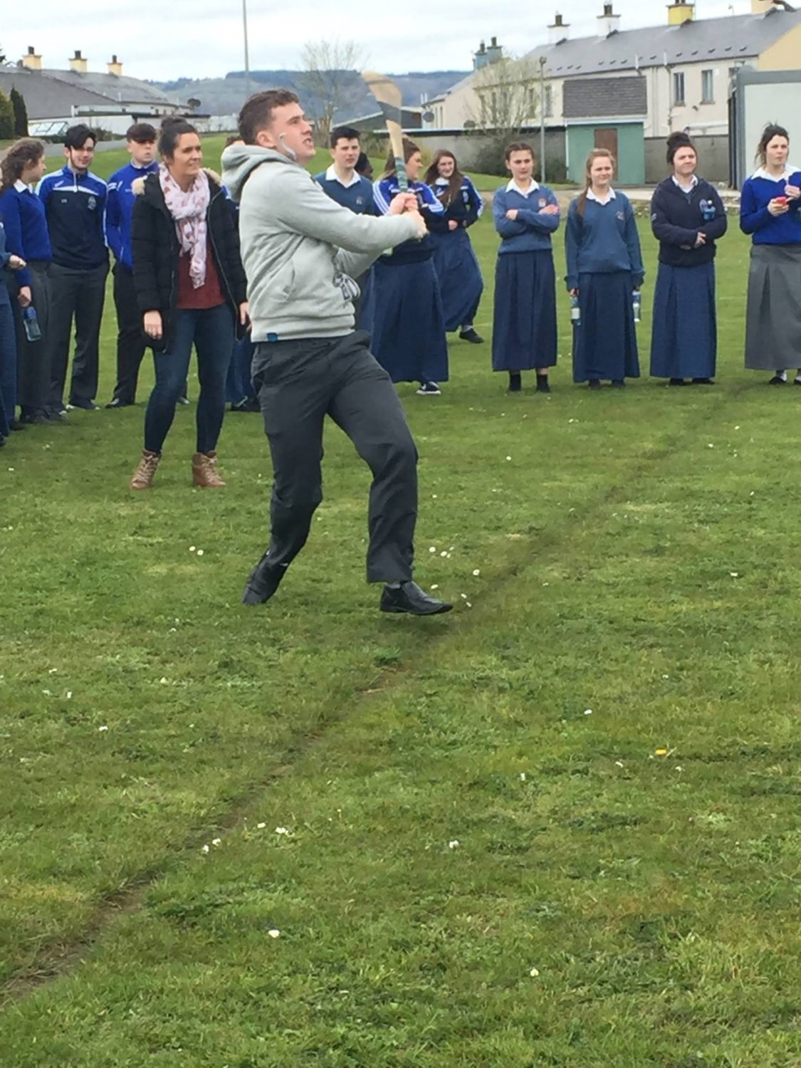 2016 Active Schools Week at Desmond College: ActiveTuesday 19th April: Long Puck Competition