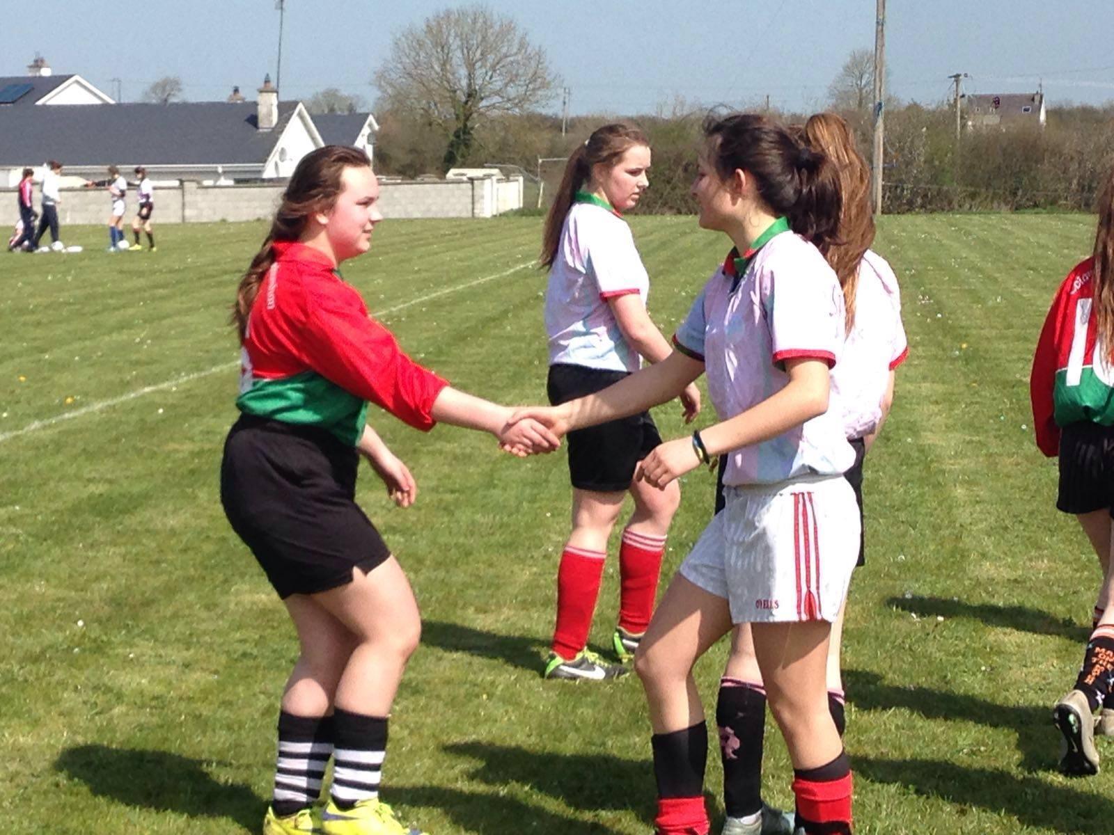 20th April 2016: Active Wednesday of Active Schools Week 2016 at Desmond College: Girls Soccer Match. Desmond College Won 2-1 vs Pallaskenry