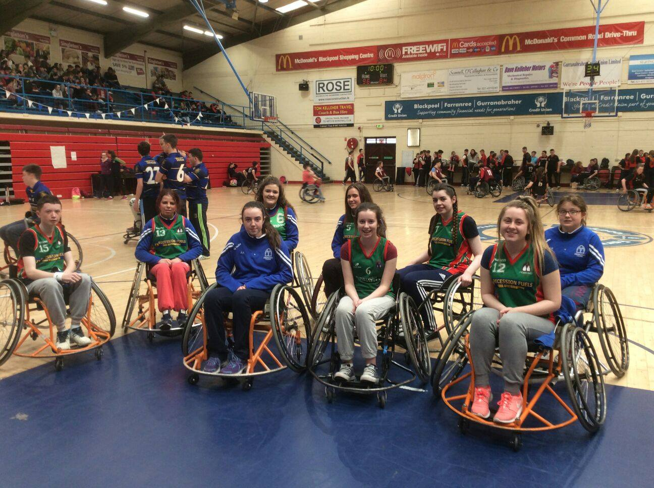 21st April 2016: Desmond College TY Students compete in Munster Wheelchair Basketball Competition. Active Schools Week 2016. #ActiveThursday