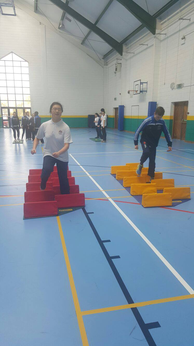 21st April: Desmond College Active Schools Week 2016: 1st Year Students having fun with the Limerick Sports Partnership #activethursday