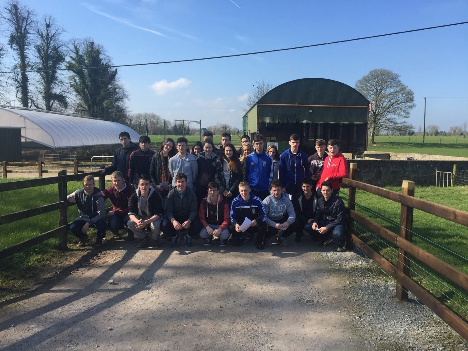 April 2016: Desmond College Agricultural Science Students on Trip to Pallaskenry Agricultural College