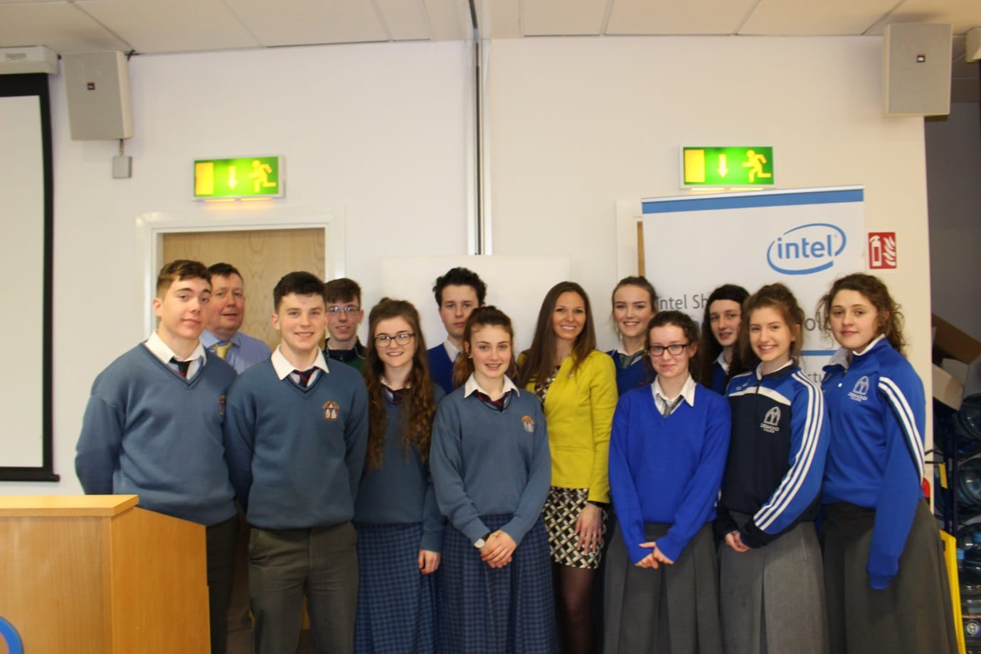 April 2016: Desmond College students pictured with Amber Gell American Engineer with NASA