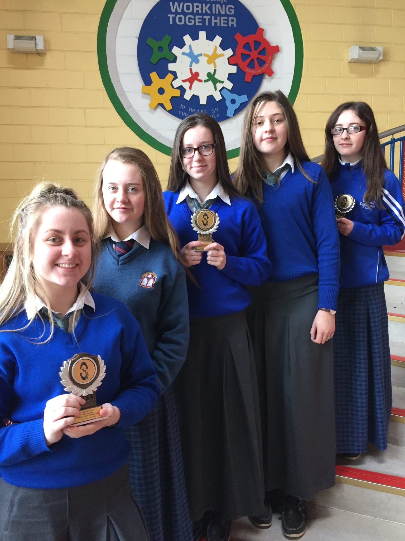 """April 2016: Desmond College students are winners of the Get Up and Go Enterprise Competition 2016, with their Product """"Coladh Samh"""" pictured: Leah Barry, Caoimhe Danaher, Aine Upton, Muireann Tobin and Sophie Bridgeman."""