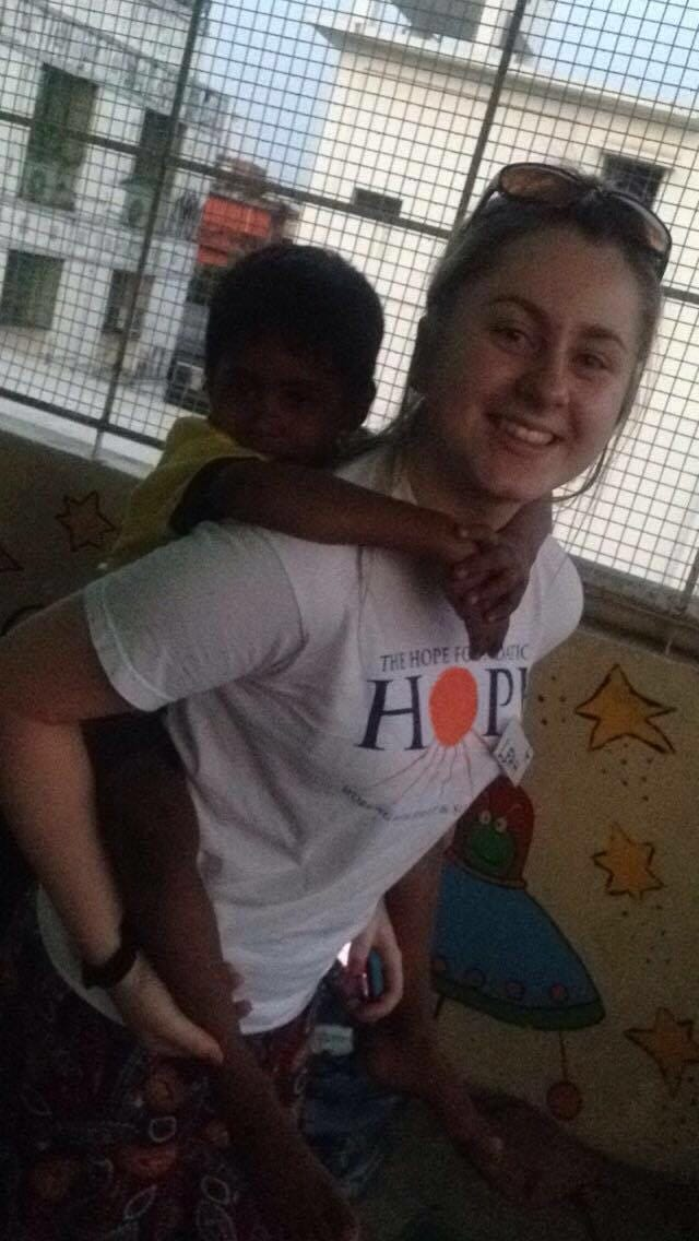 April 2016: Desmond College students met and played with the children supported by the HOPE foundation