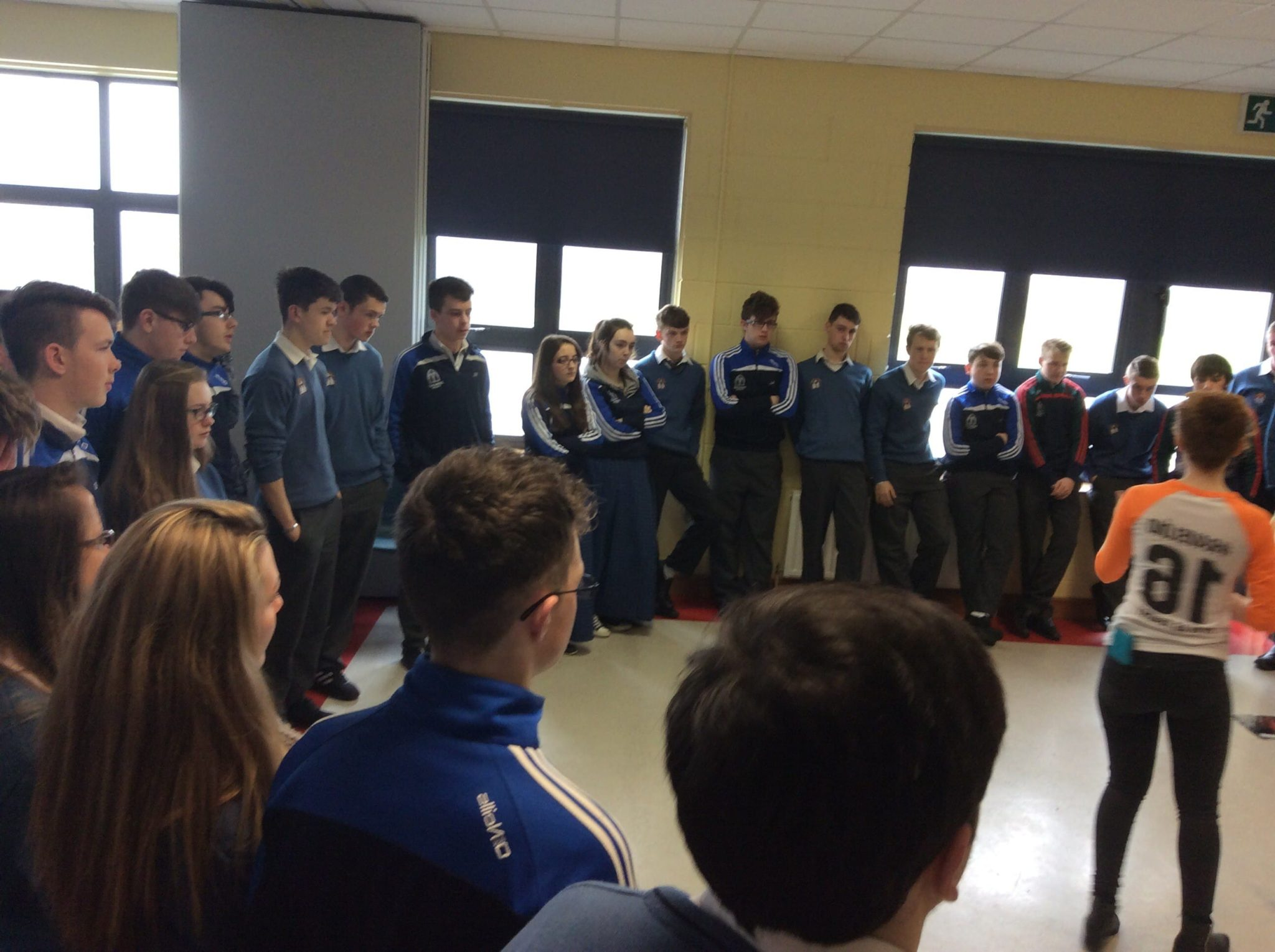 march 2016: students enjoying the irish language workshop