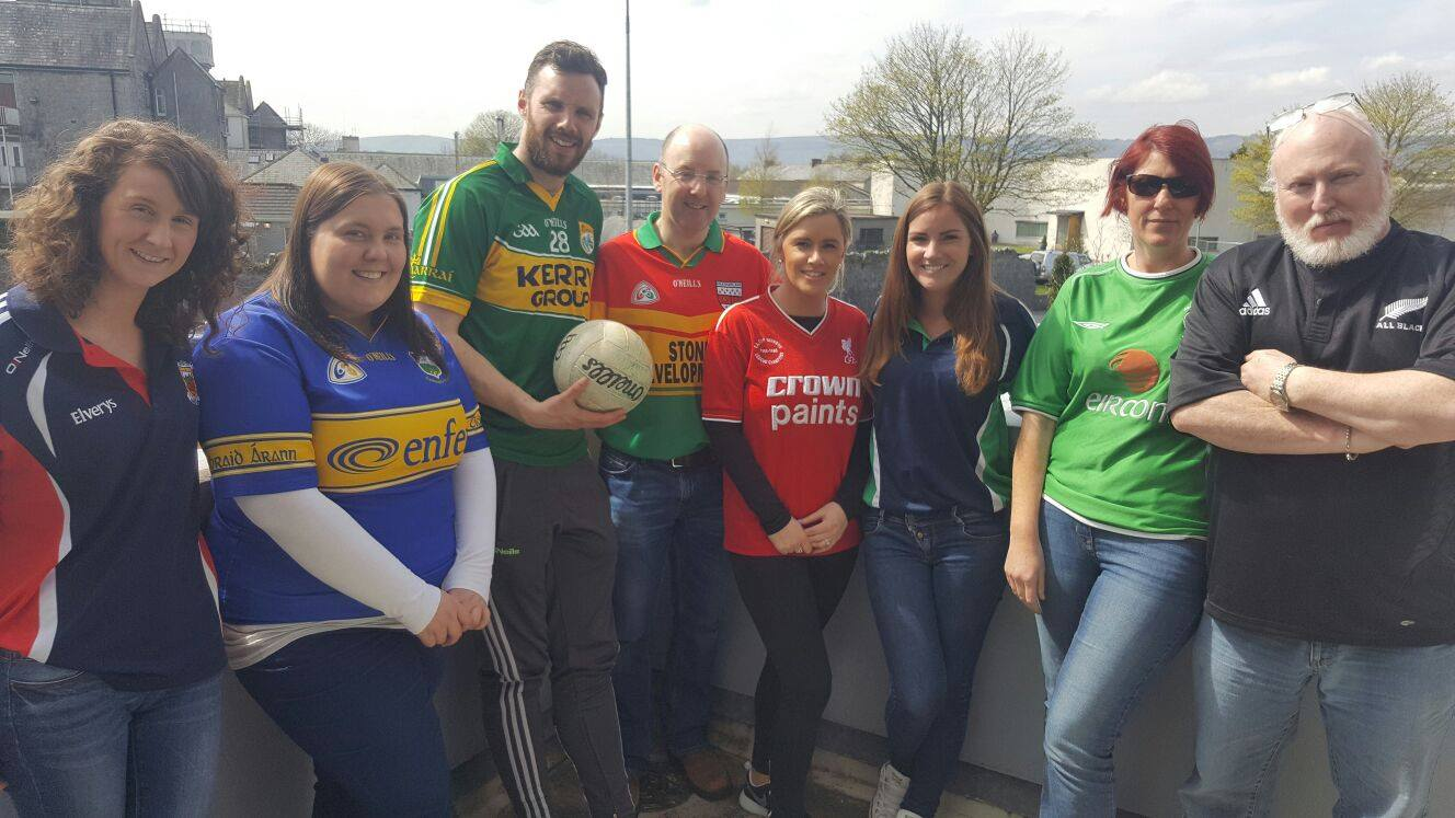 22nd April 2016: Jersey Day at Desmond College as part of Active Schools Week 2016