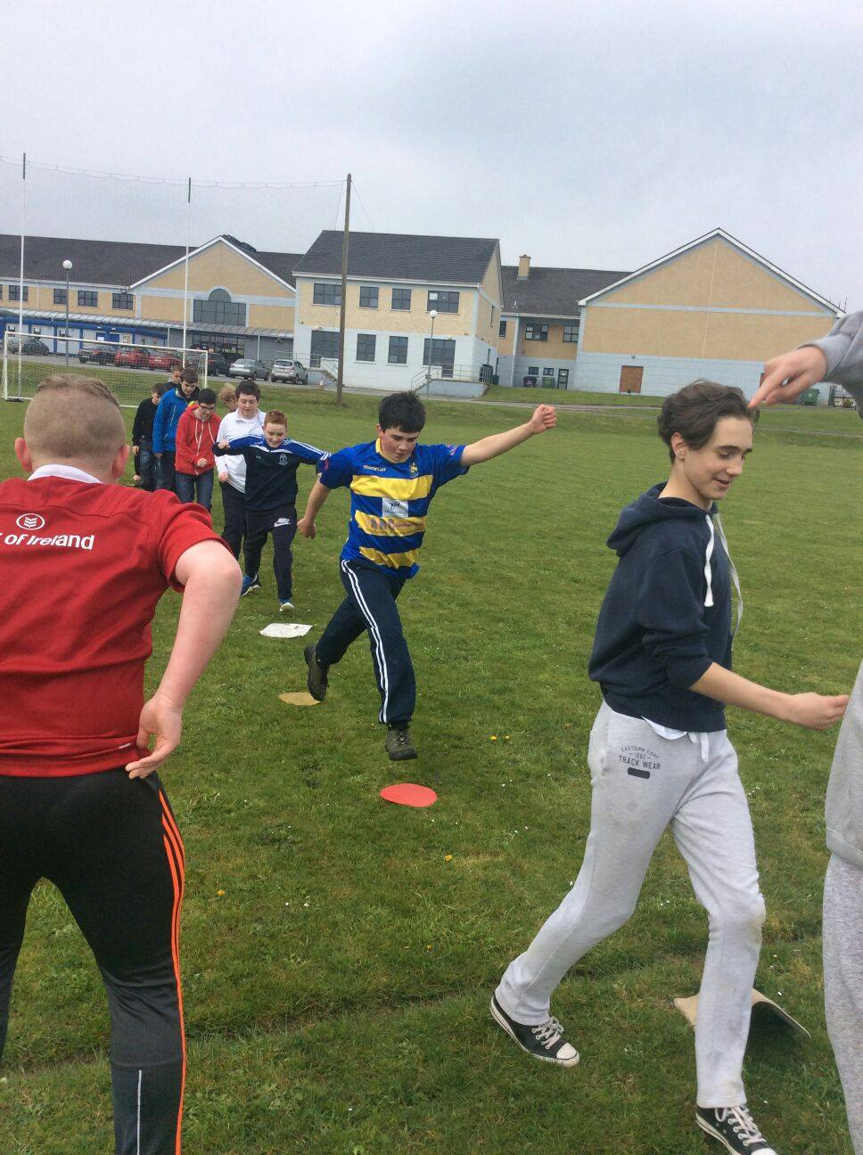 22nd April: Second Year Zumba and Team Challenges ActiveFriday at Desmond College Active Schools Week 2016
