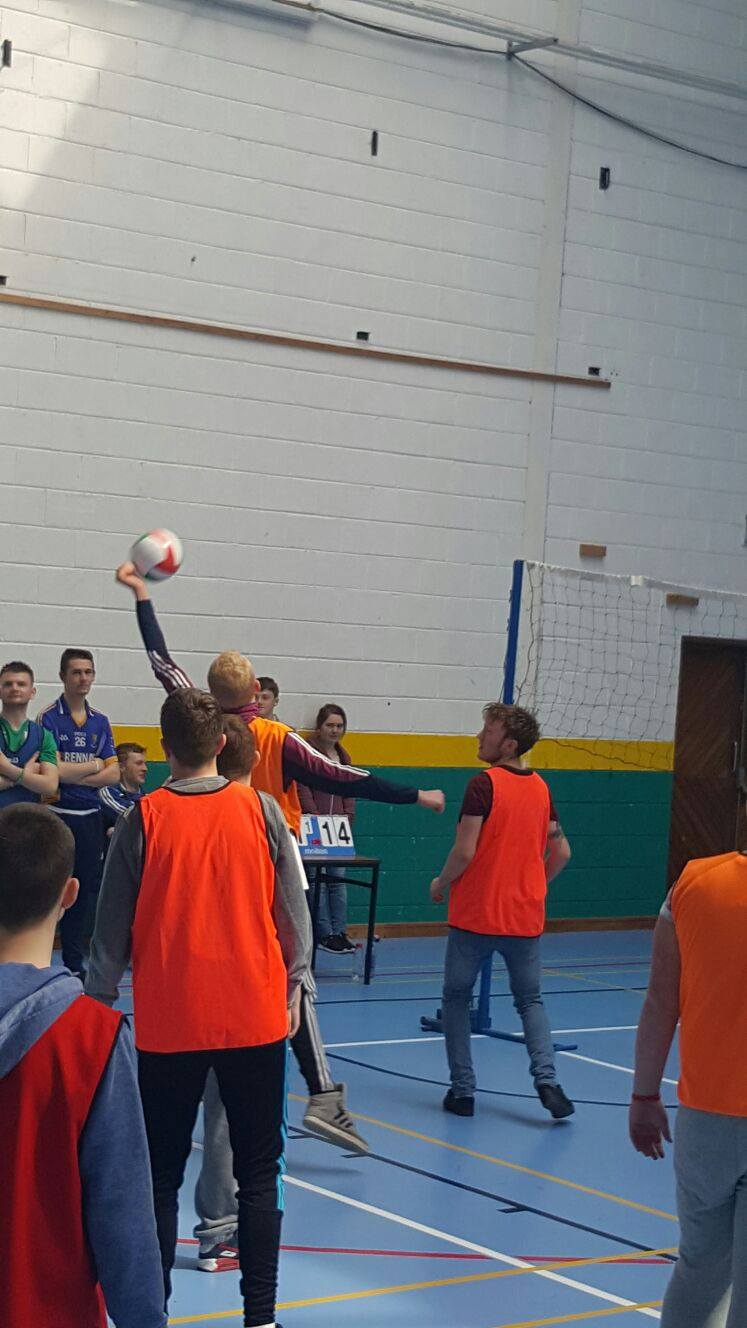 #ActiveFriday Desmond College Active Schools Week: Teachers v Students Volleyball Match